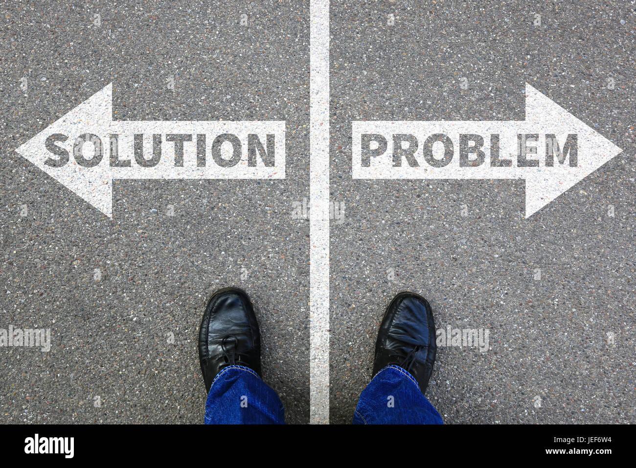 Ricerca di soluzione problema imprenditore il concetto di business di successo i problemi Immagini Stock