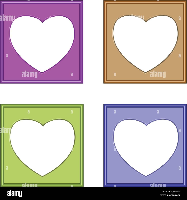 Cornici Colorate Per Foto colorato vettore 3d del cuore di cornici per immagini o