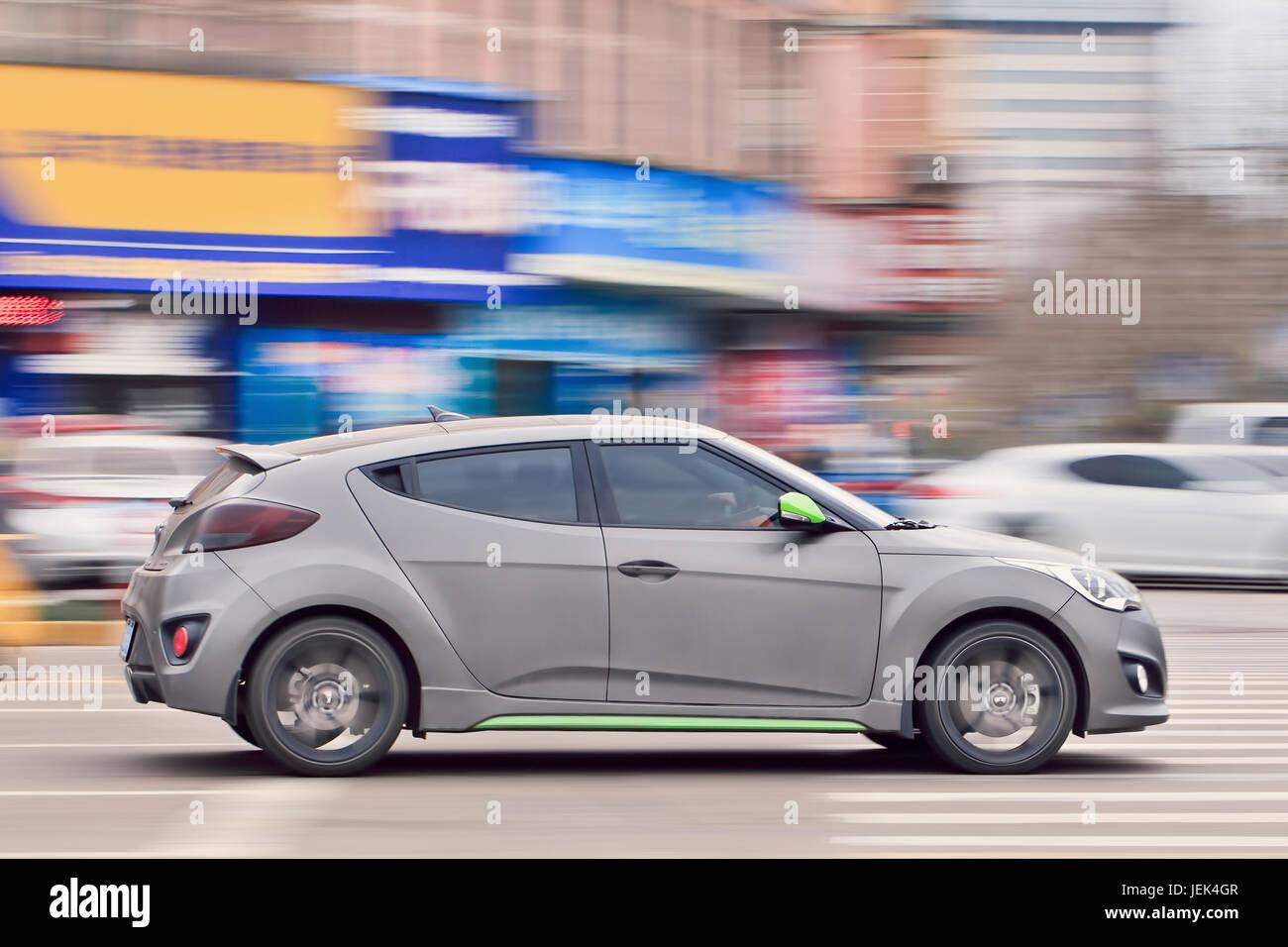 Hyundai Velostar. Compact auto sportiva prodotta da Hyundai. Sales è iniziata nel 2011. In Corea del Sud la Immagini Stock