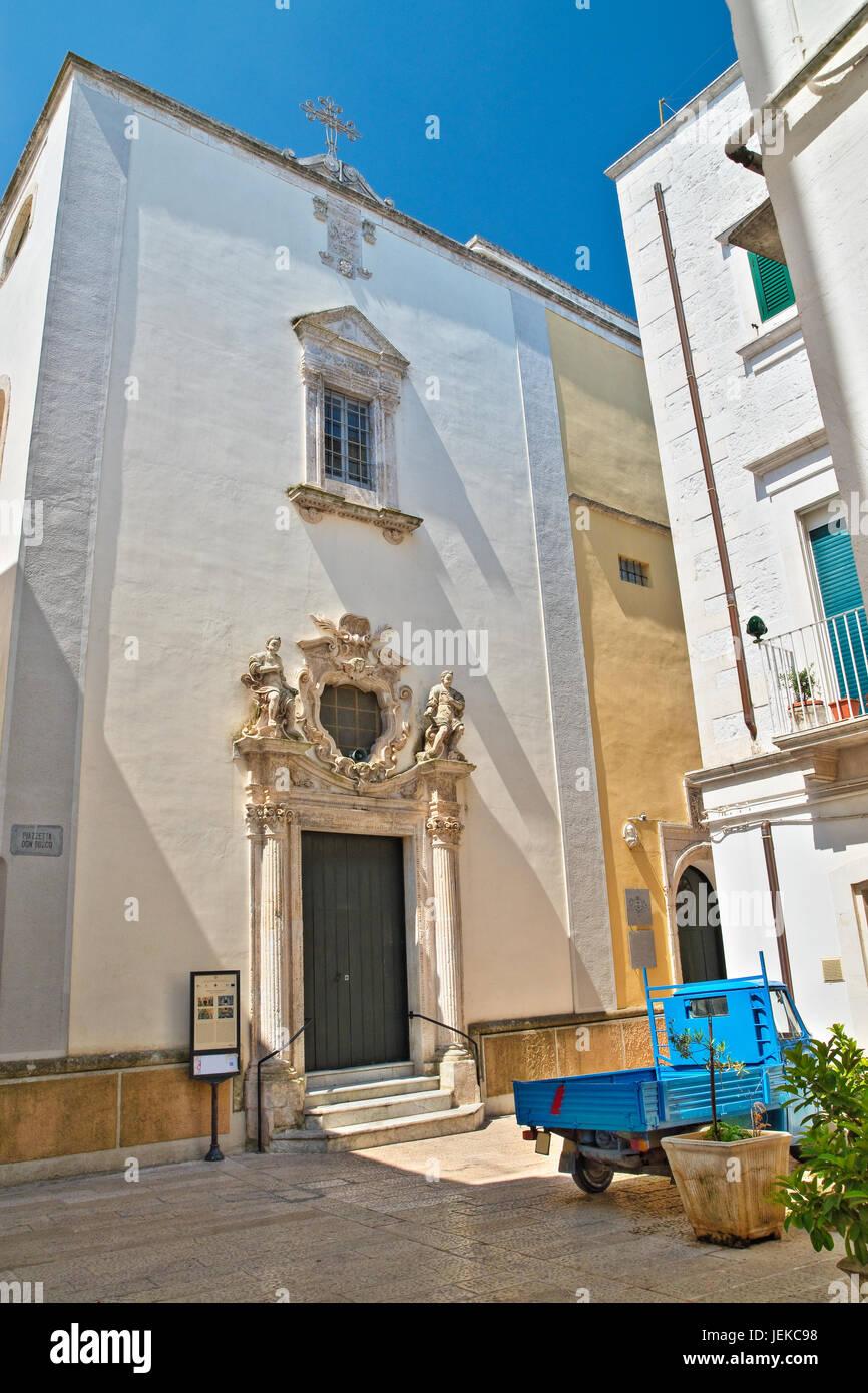 Chiesa di purezza. Martina Franca. La Puglia. L'Italia. Immagini Stock