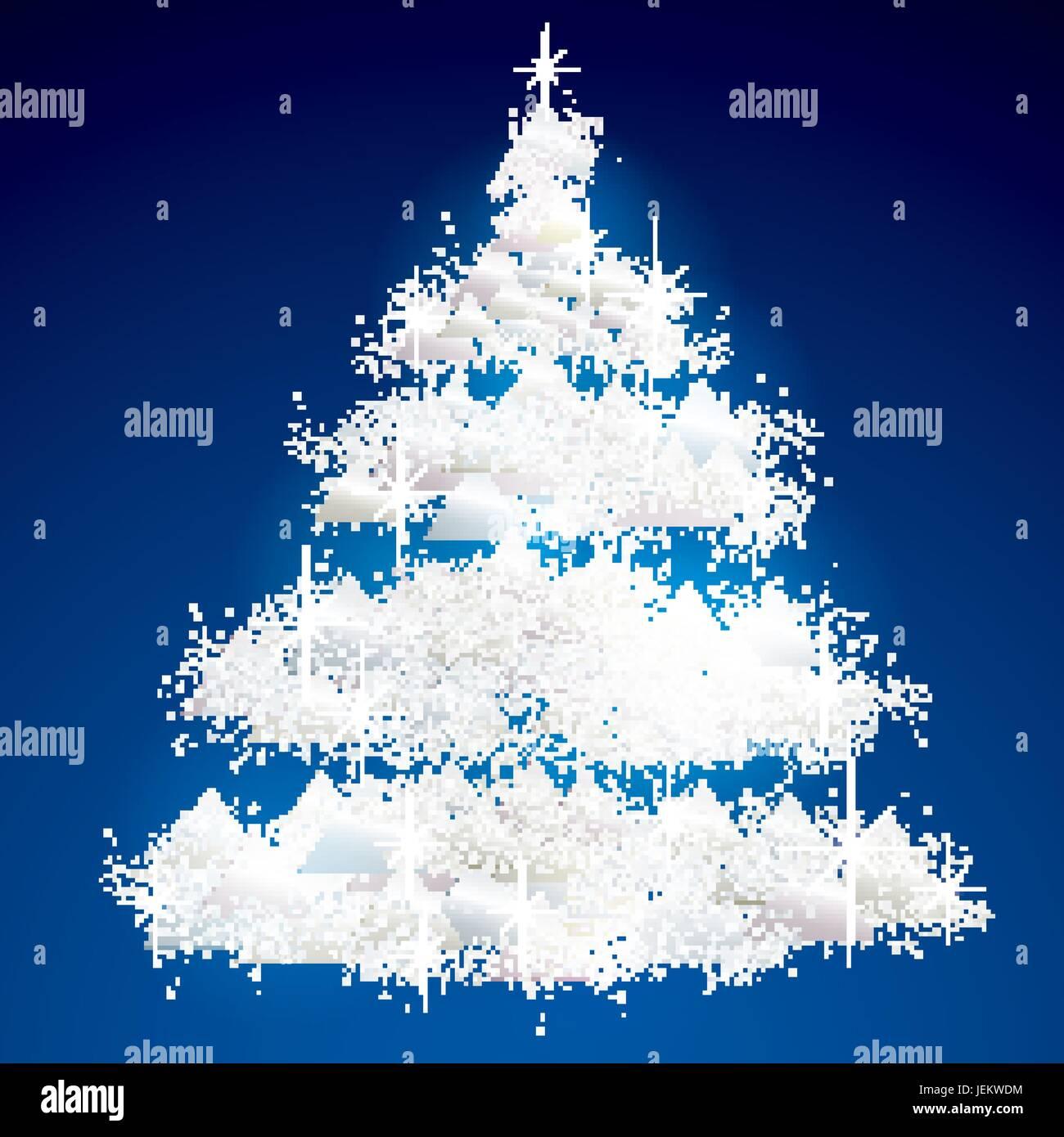 Immagini Di Natale Glitter.Bianco Glitter Albero Di Natale Del Vettore Della Scheda