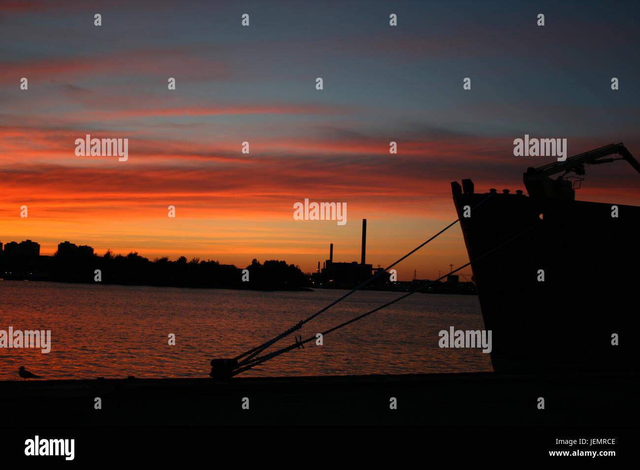 Tramonto a Helsinki - Finlandia Immagini Stock