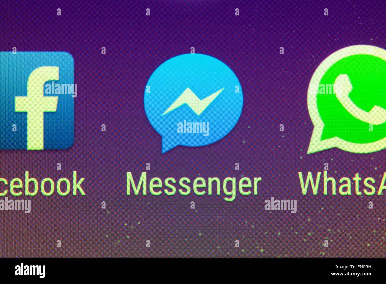 Un primo piano di Facebook Messenger app su uno smartphone