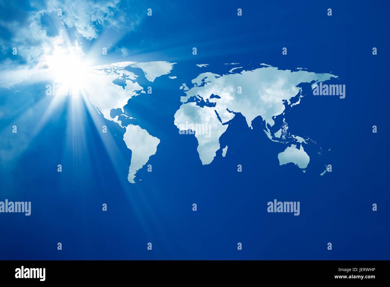 Concettuale dell'immagine di sfondo della mappa del mondo. Arredate NASA mondo immagine utilizzata per questa Immagini Stock