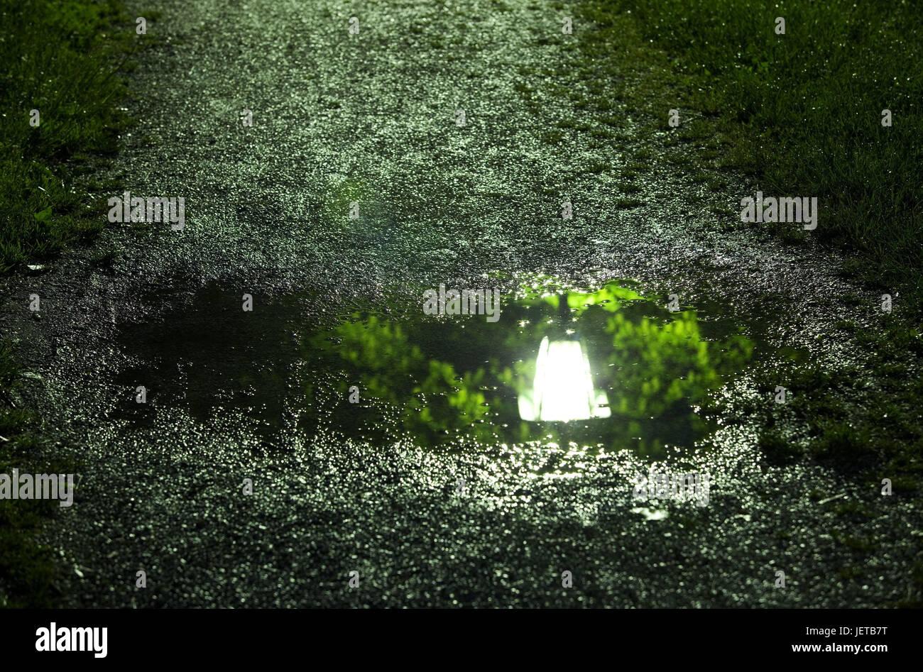 Illuminazione Da Prato : Lontano pozzanghera mirroring lanterna sera park parco
