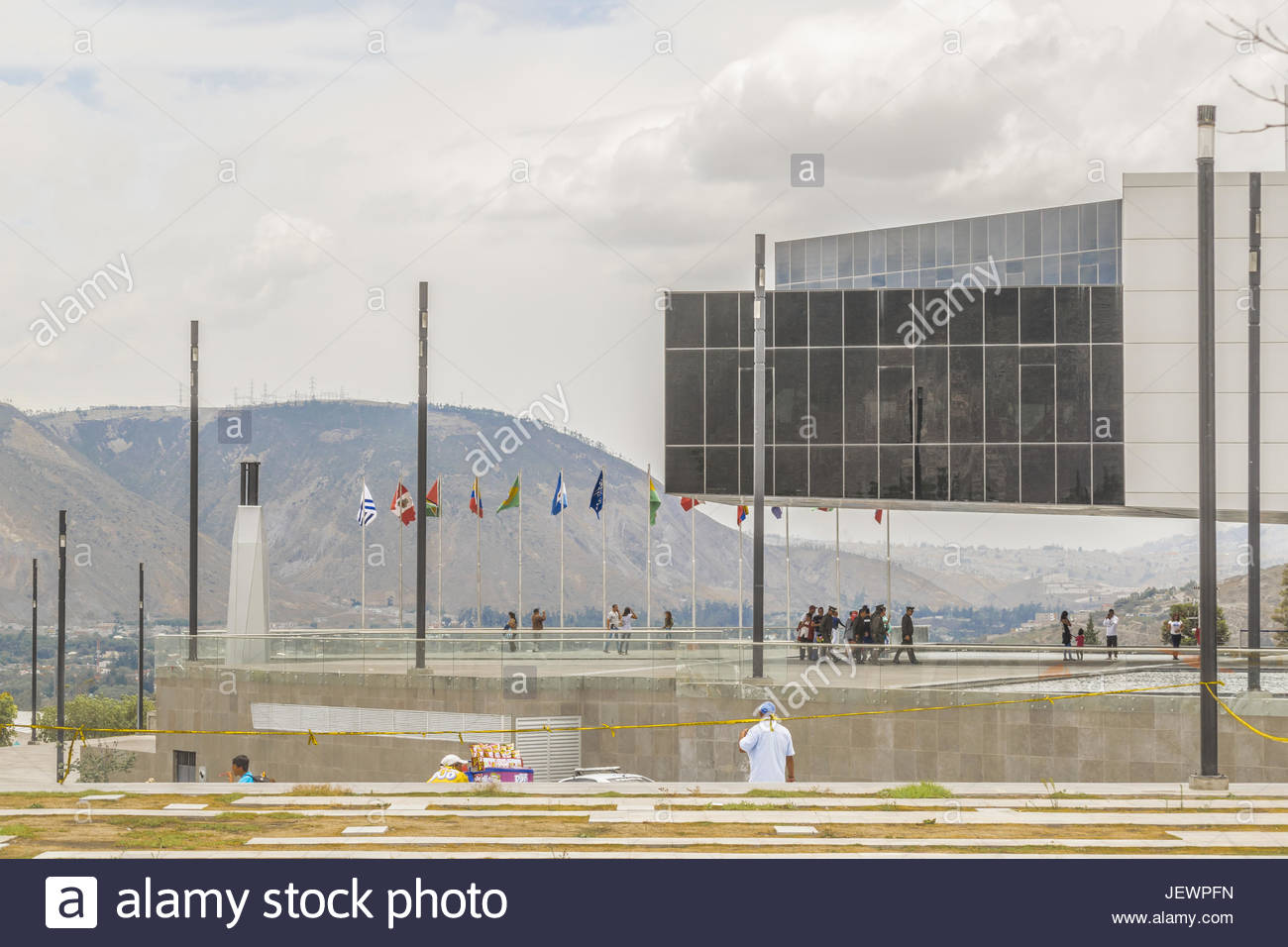 Edificio Unasur terra centrale Quito Ecuador Foto Stock
