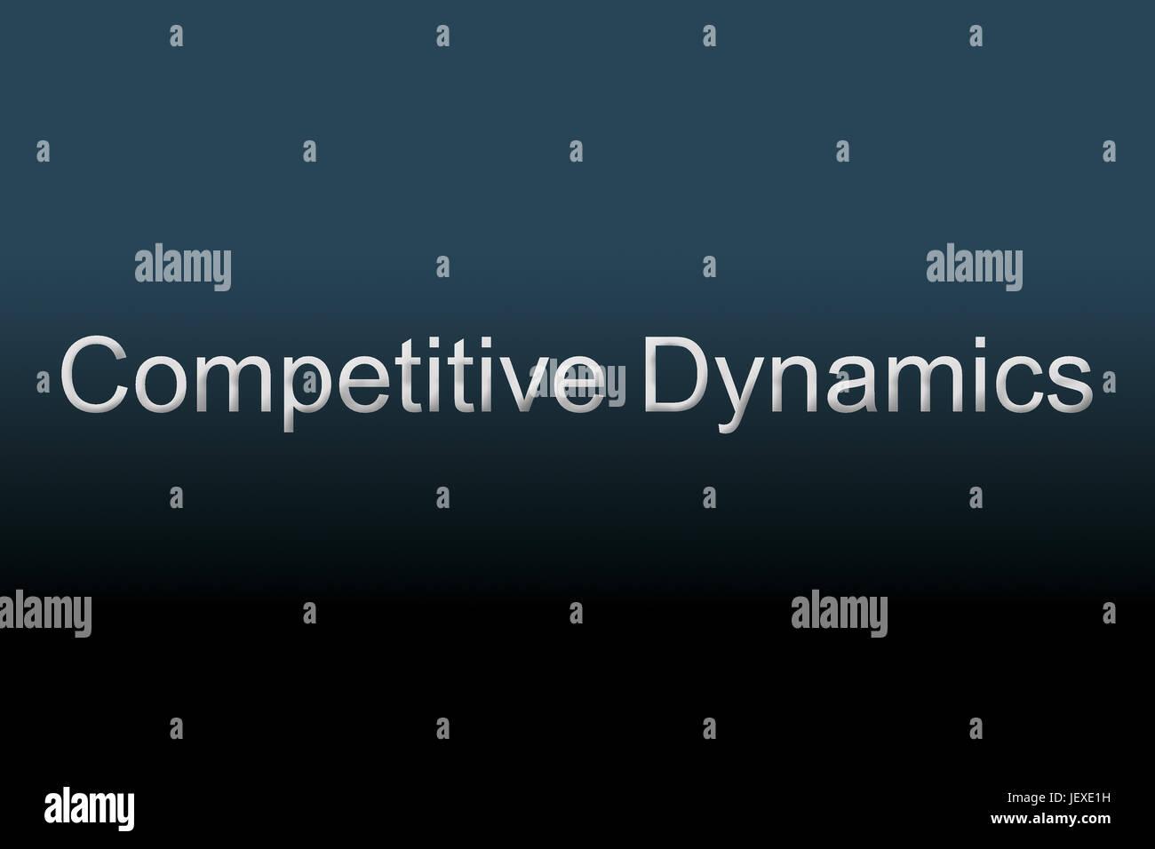 Dinamiche Competitive concept Immagini Stock