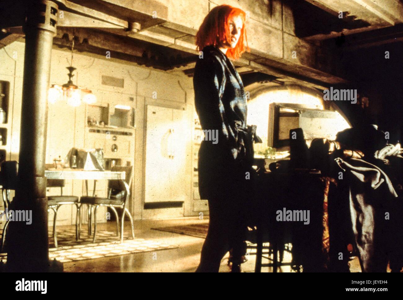 Il quinto elemento, 1997, milla jovovich Immagini Stock