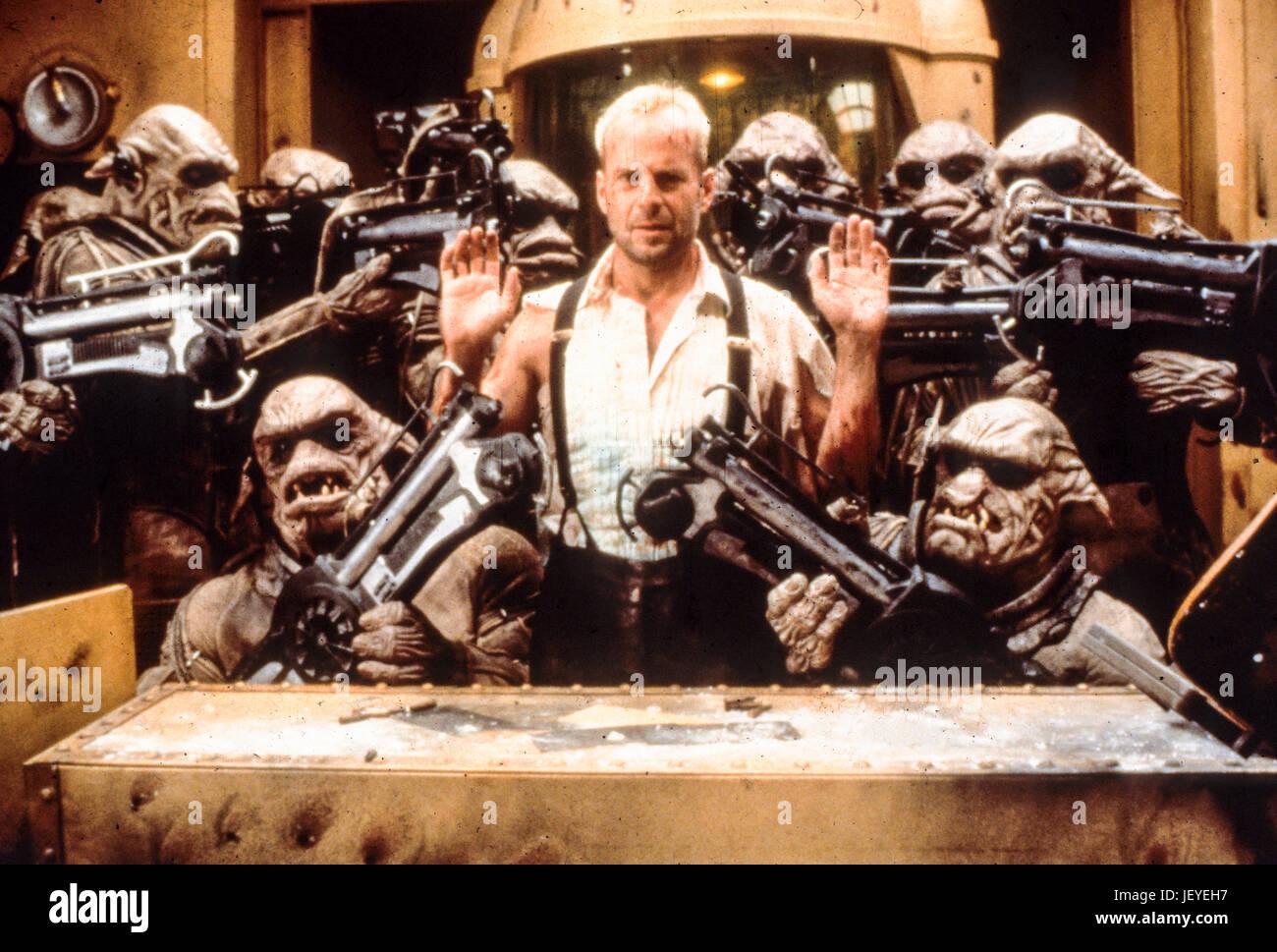 Il quinto elemento, 1997, Bruce Willis Immagini Stock