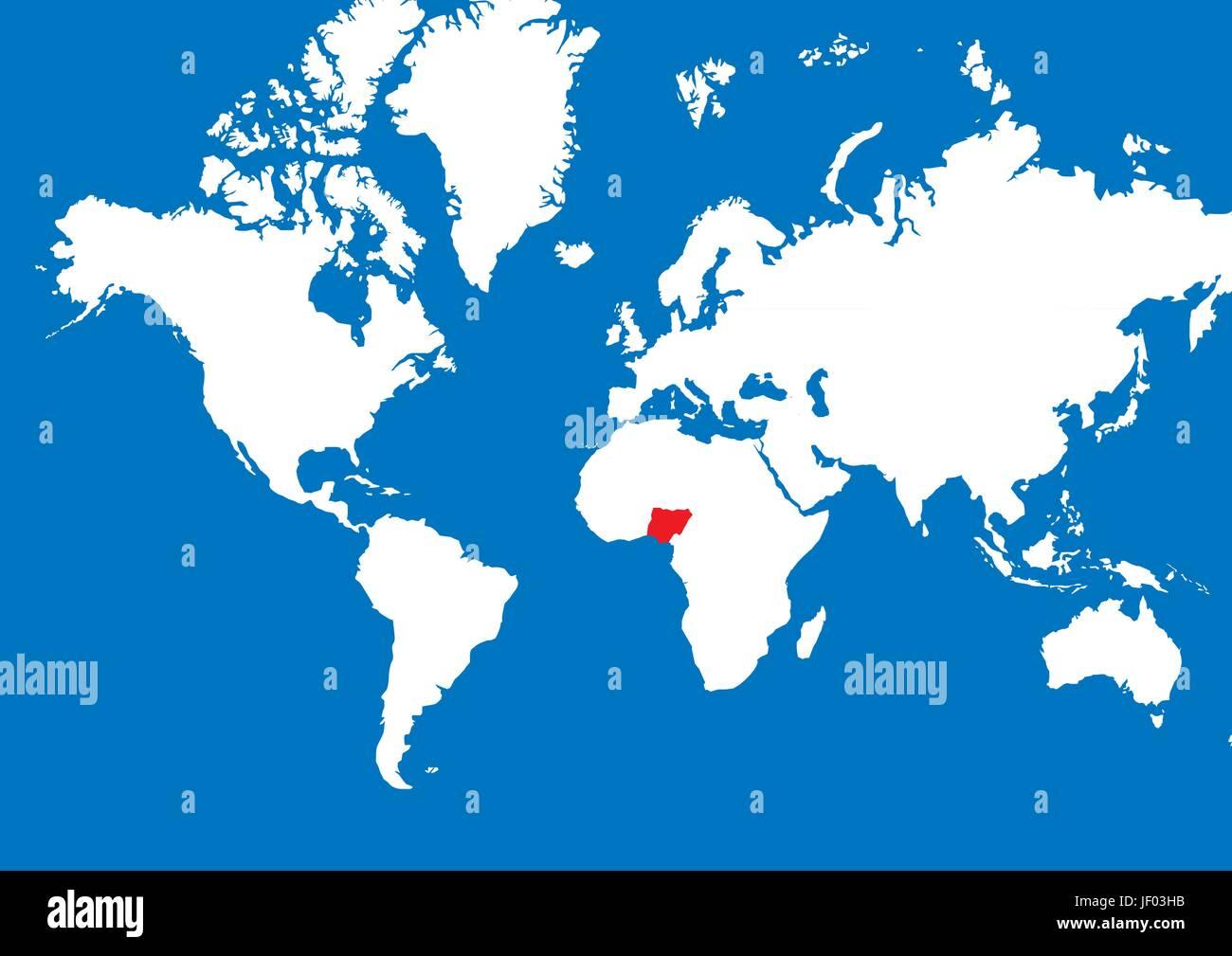 Nigeria Cartina Africa.Africa Nigeria Terra Realty Massa Atlas Mappa Del Mondo