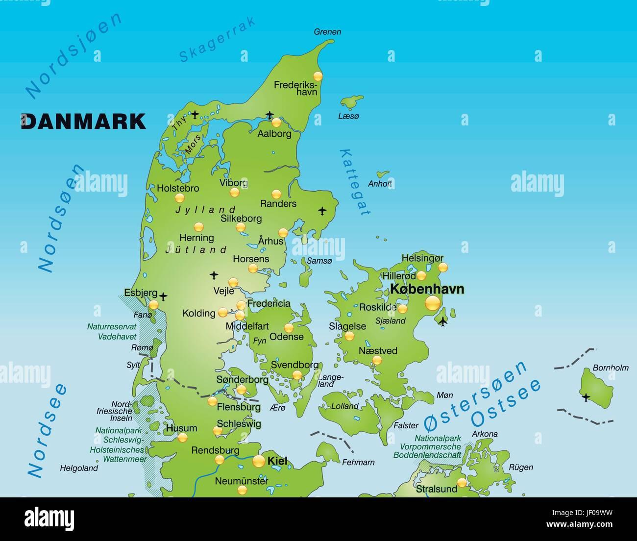Cartina Della Danimarca.Scheda Atlas Mappa Del Mondo Mappa Danimarca Bordo