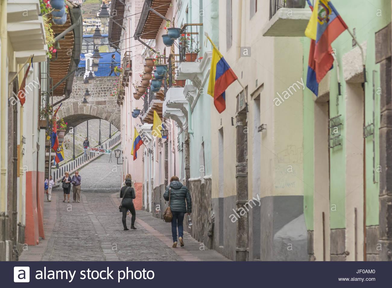 La Ronda Quito Ecuador Immagini Stock