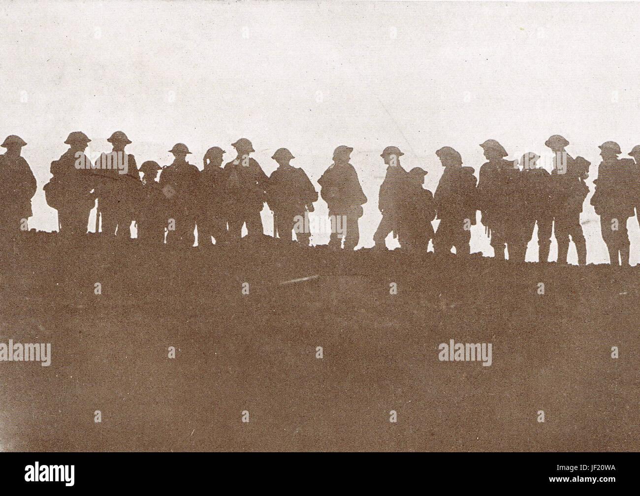 Riserve canadese, Fronte occidentale 1916 Immagini Stock
