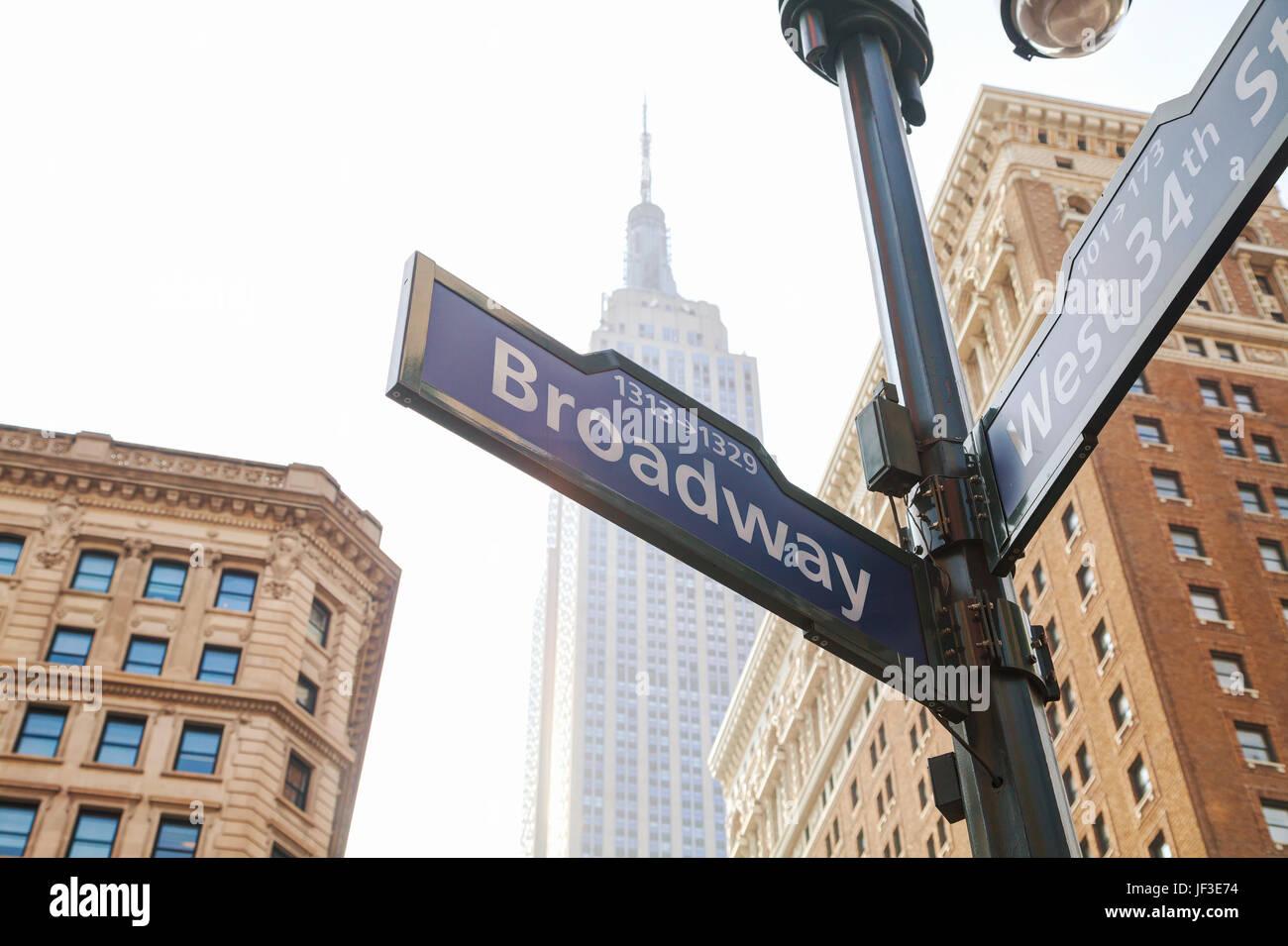 Segno di Broadway a New York Immagini Stock
