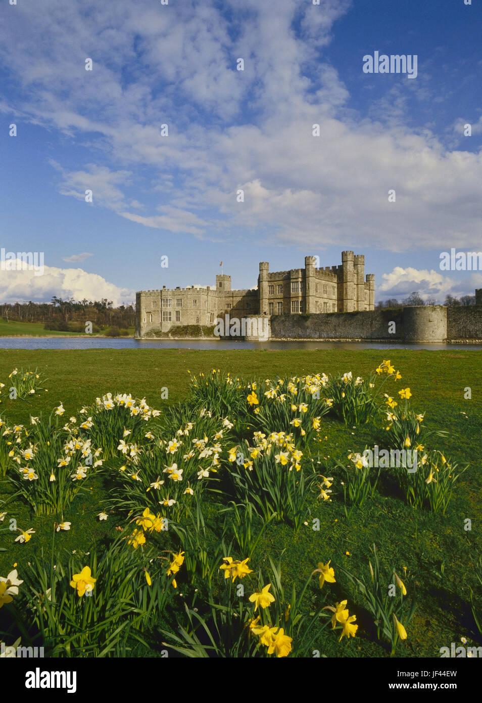 Primavera al Castello di Leeds. Kent. In Inghilterra. Regno Unito Immagini Stock