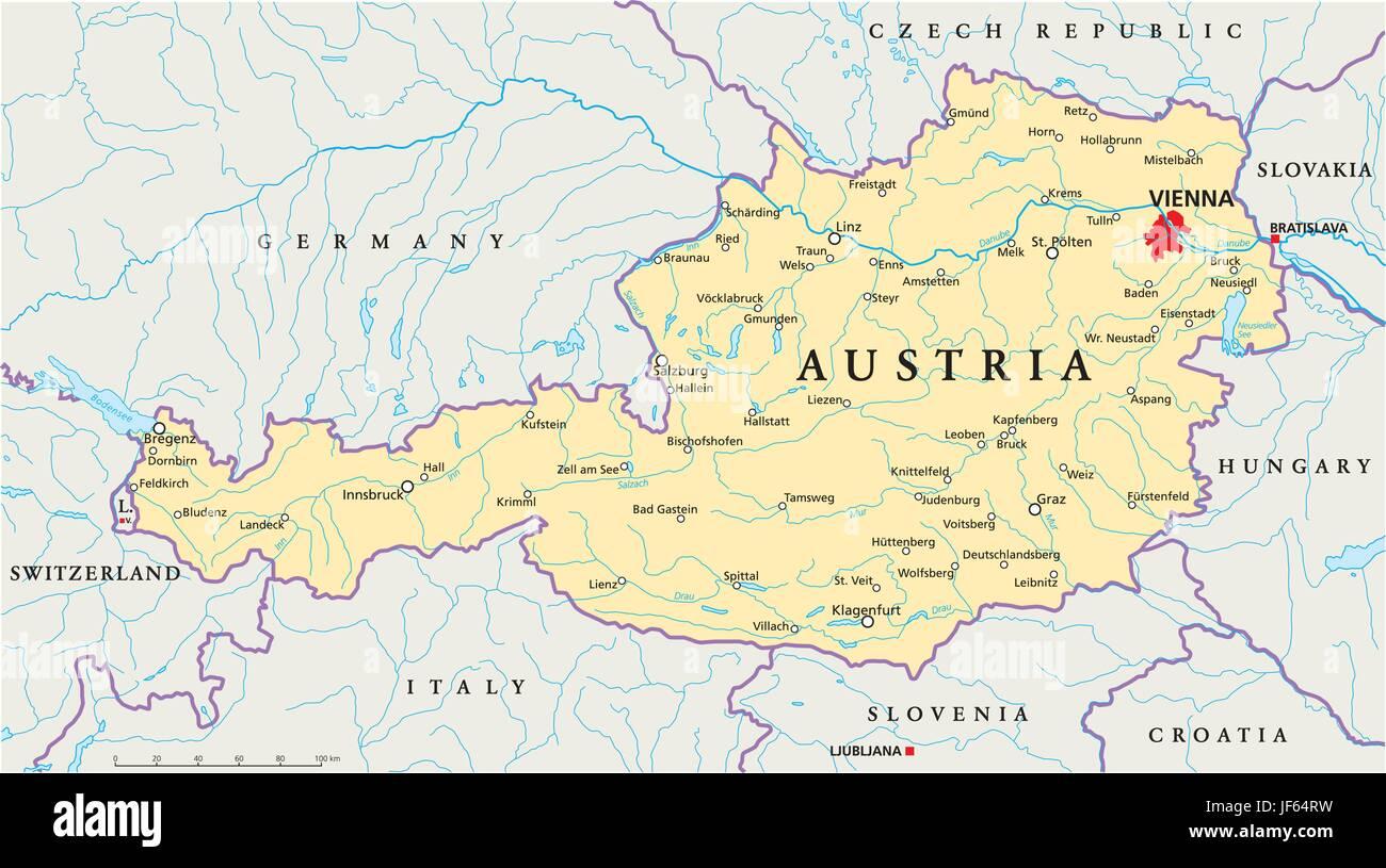 Cartina Austria Stradale.Vienna Austria Il Danubio Mappa Atlas Mappa Del Mondo Viaggi Slovacchia Alpi Immagine E Vettoriale Alamy