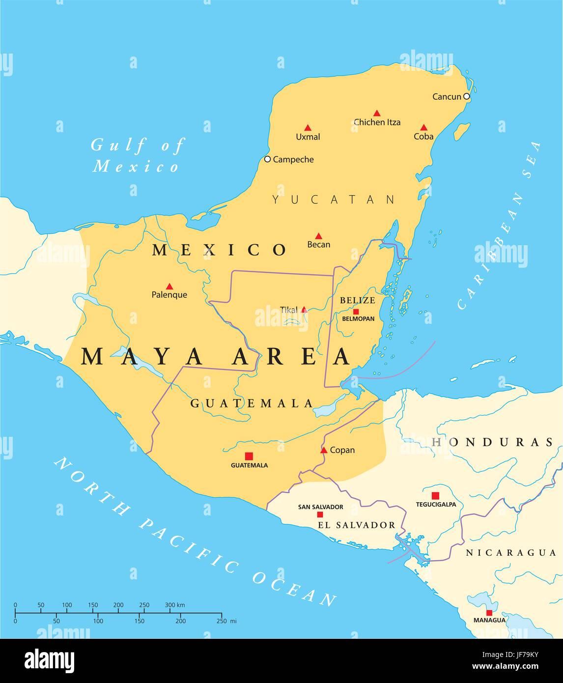 Cartina Yucatan