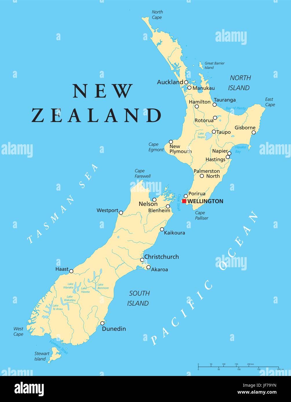 Nuova Zelanda Cartina Mondo.Nuova Zelanda Mappa Atlas Mappa Del Mondo Politico Nuovo