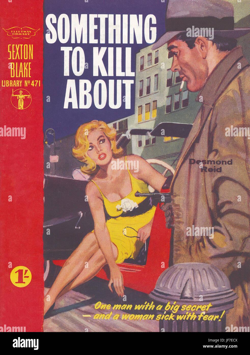 """""""Qualcosa di uccidere circa,"""" di Desmond Reid - Prenota illustrazione del coperchio. La didascalia recita, Immagini Stock"""