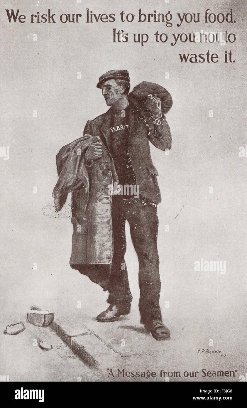 WW 1 home poster di propaganda Immagini Stock