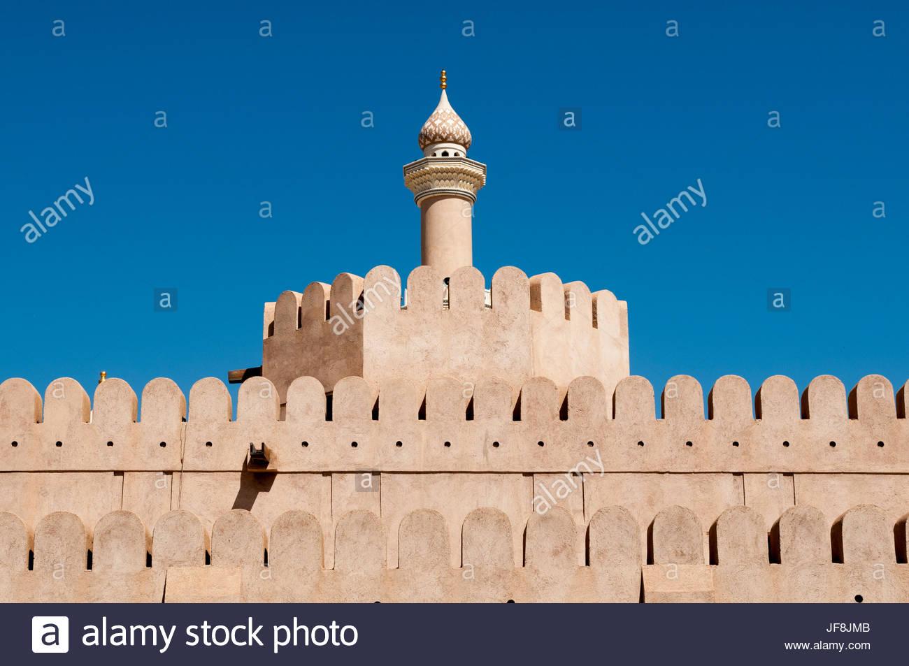 Dettagli dell'architettura a Nizwa fort. Immagini Stock