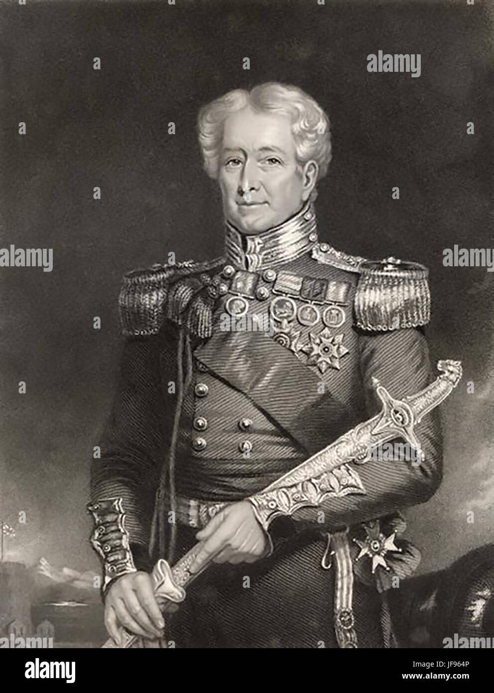 ROBERT VENDITA (1782-1845) esercito britannico Maggiore Generale ucciso in azione durante la Prima Guerra Anglo Immagini Stock