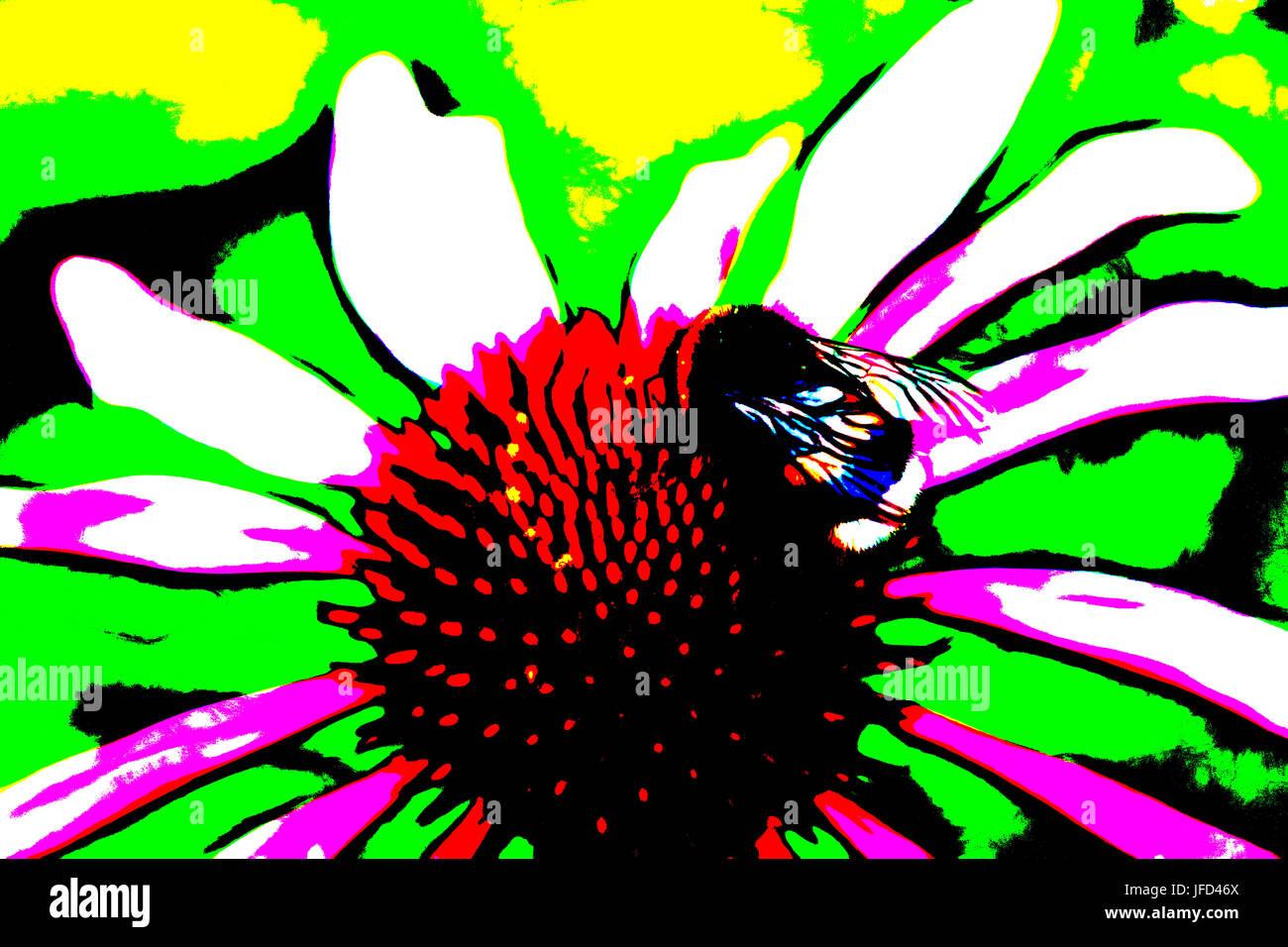 Umile Bee Immagini Stock