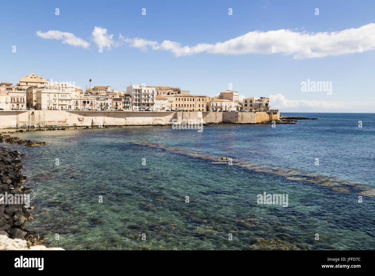 Centro storico di Siracusa, Sicilia Foto Stock