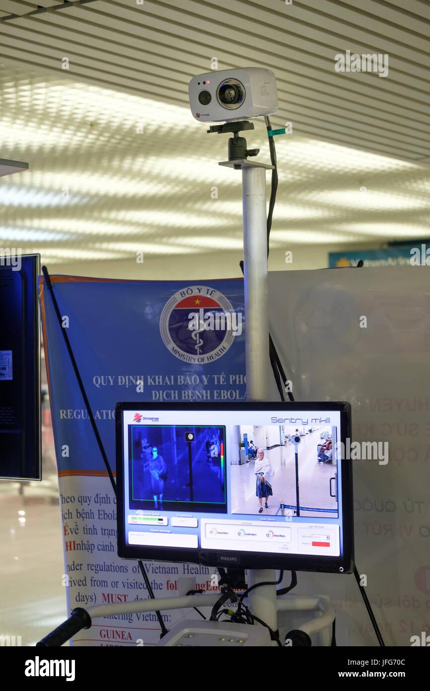 Omnisense Sentry MK III termocamera infrarossa per la diagnosi delle malattie all'Aeroporto Internazionale di Immagini Stock