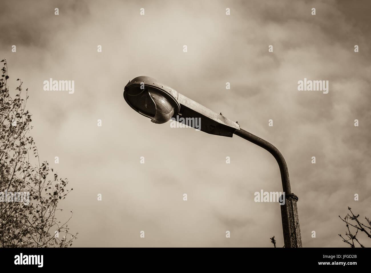 vecchio lampione Foto Stock