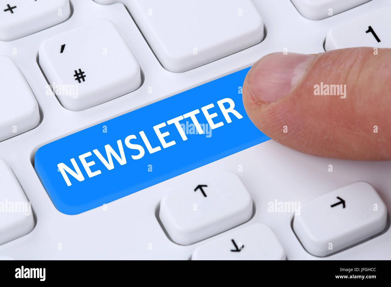 Newsletter bestellen im Internet für Business Marketing Kampagne Immagini Stock