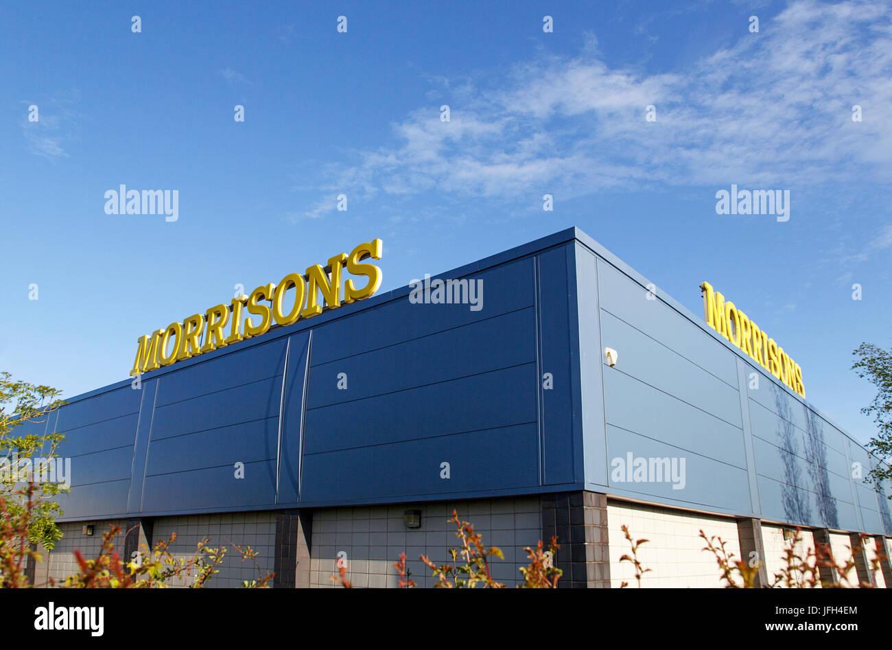 Morrisons store - Nome della marca Immagini Stock