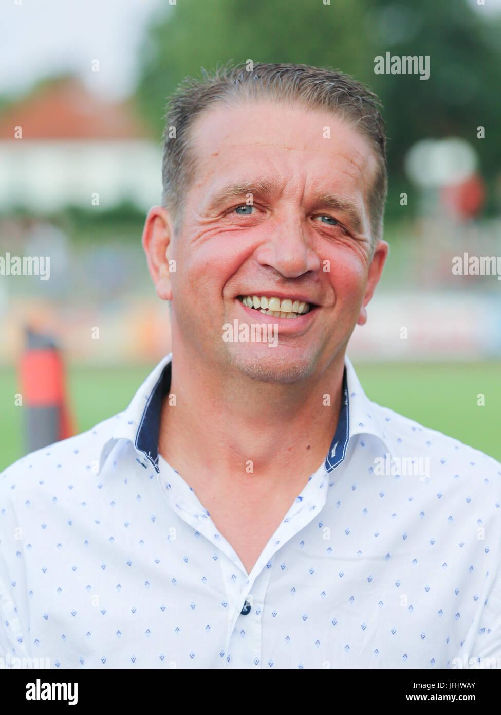 Coach Andreas Petersen ( Germania Halberstadt ) Immagini Stock
