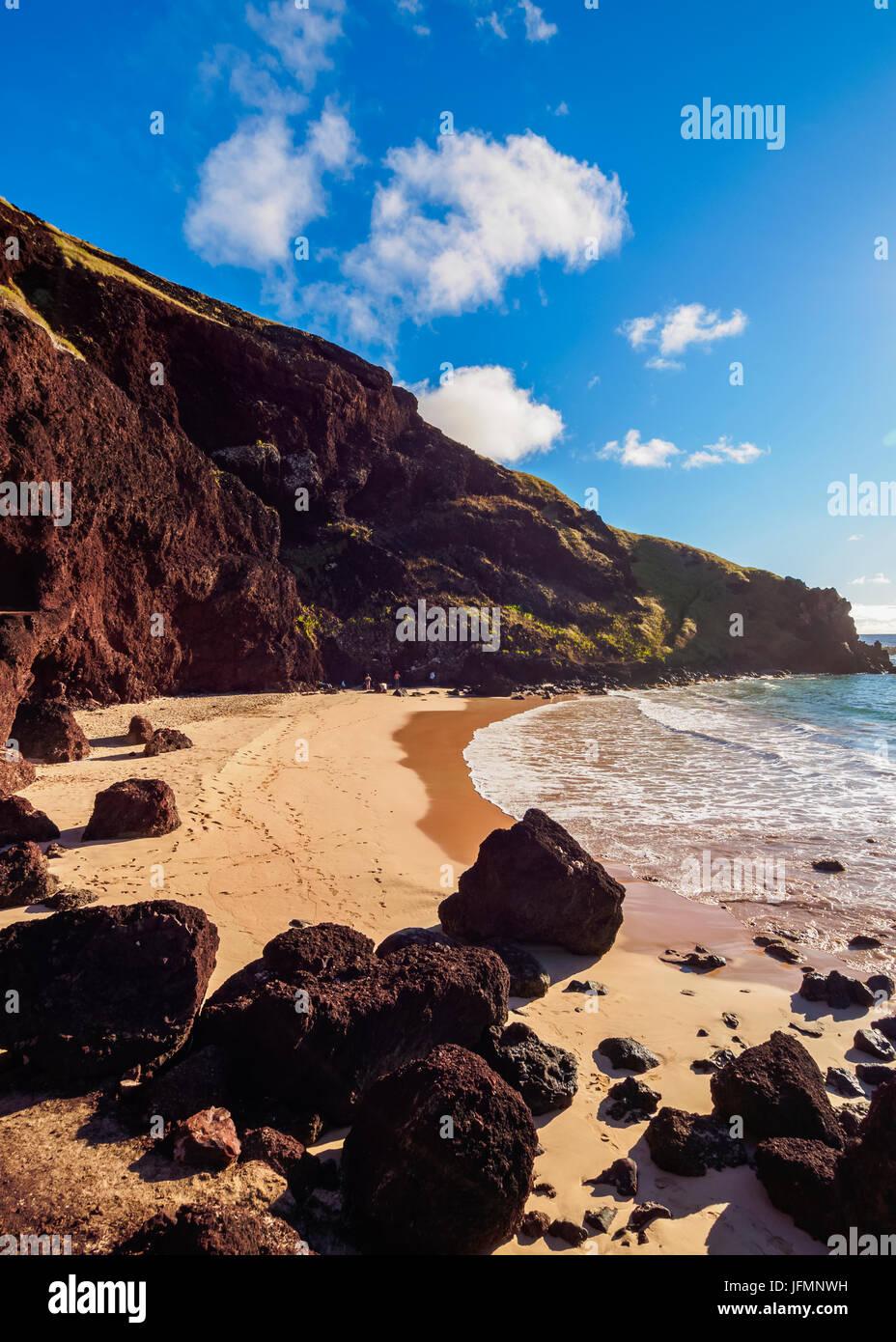 Ovahe Beach, l'isola di pasqua, Cile Immagini Stock
