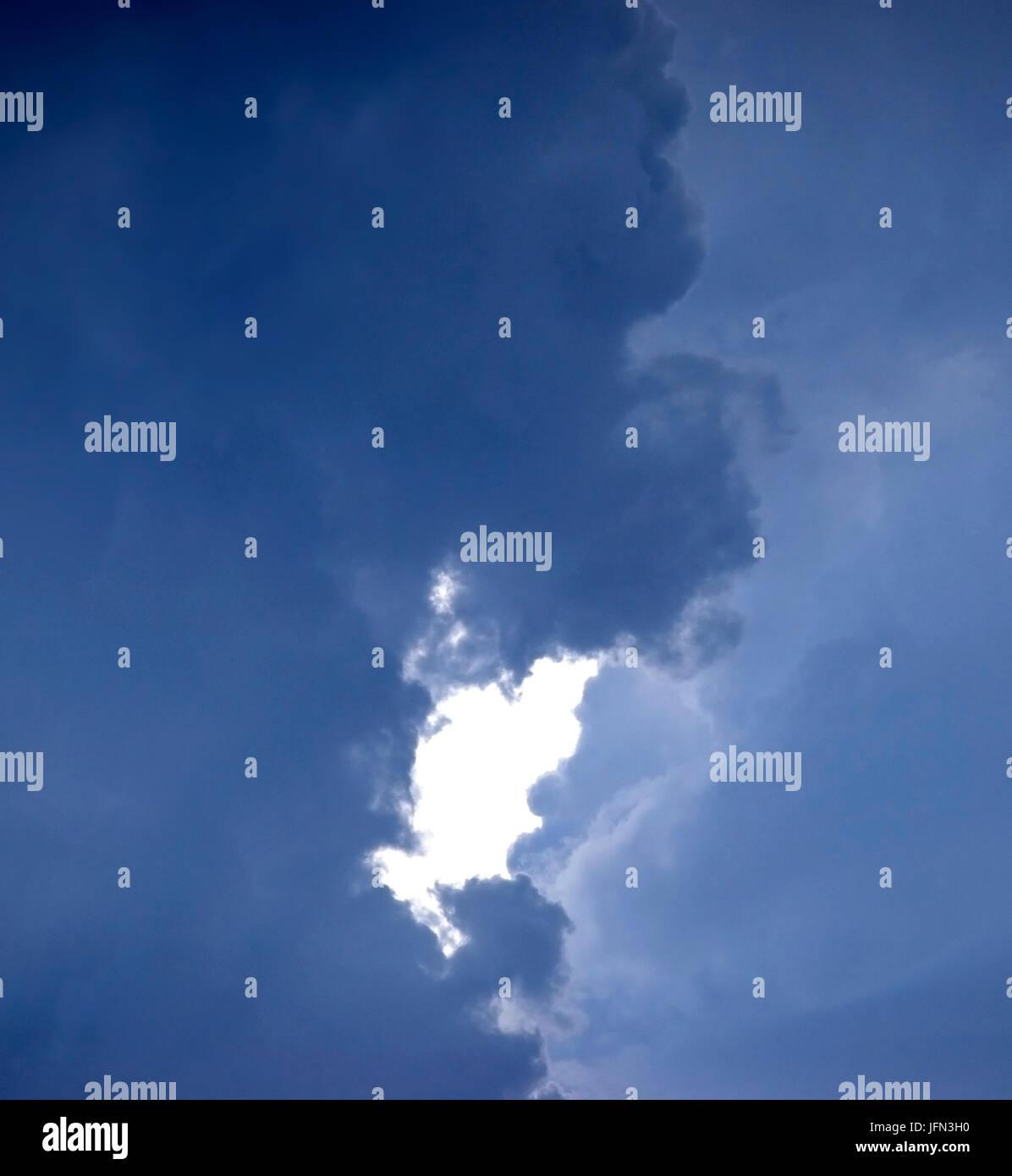 Condizioni meteorologiche estreme nel lontano ovest del Texas. Immagini Stock