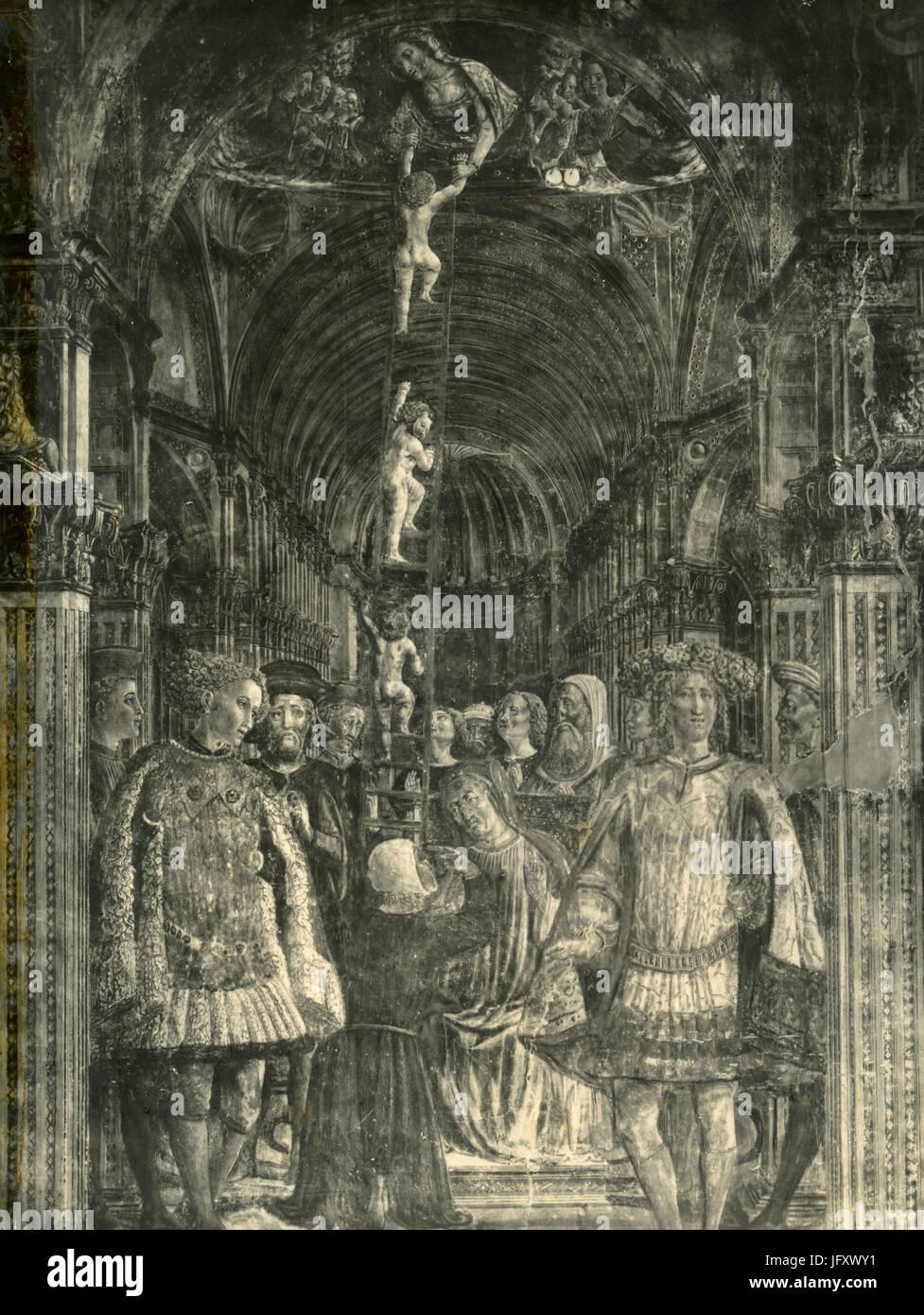 Salendo la scala, non identificato l'arte religiosa pittura Immagini Stock
