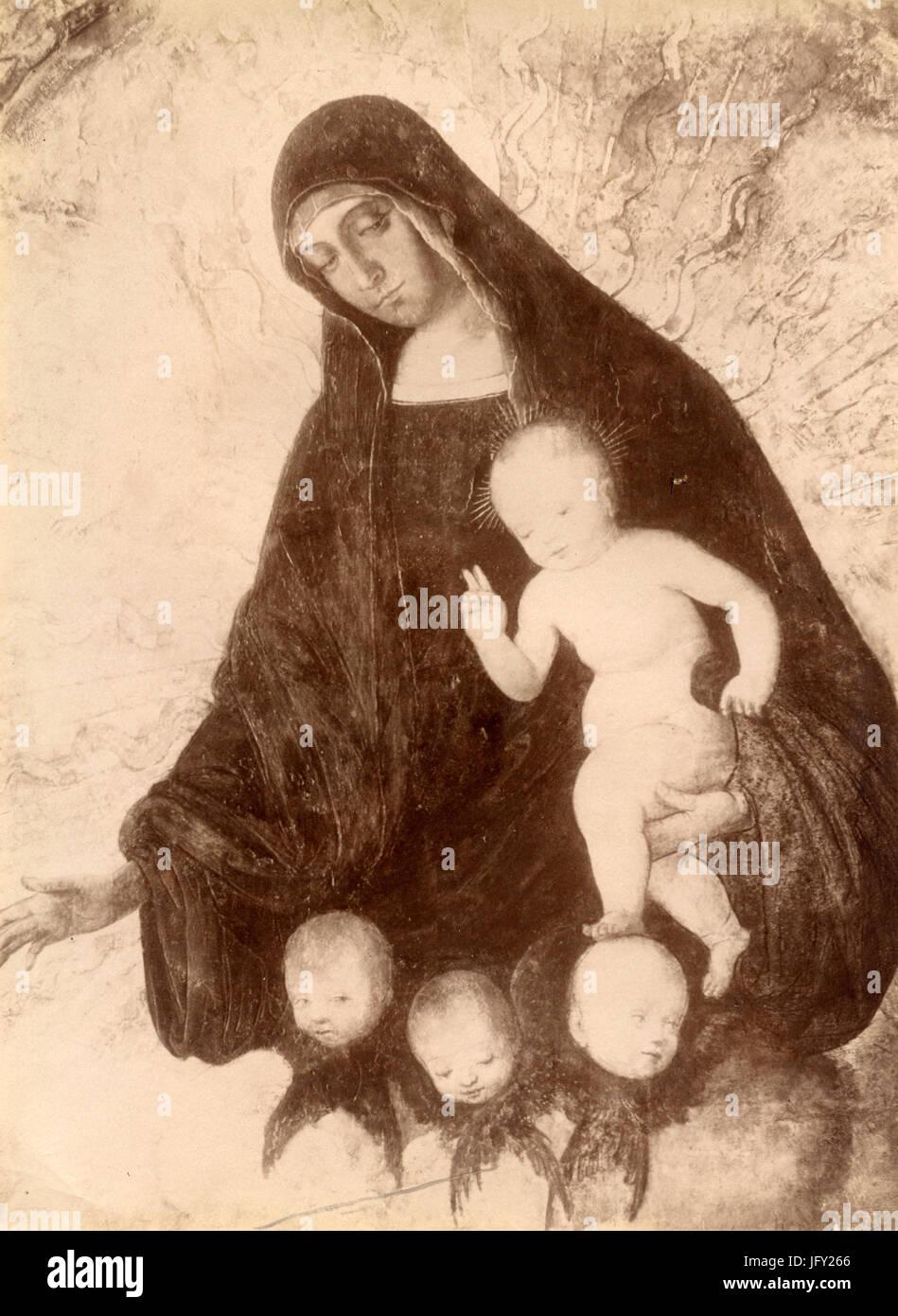 La Vergine con il bambino e angeli, dipinto da Francesco Francia, Italia Immagini Stock