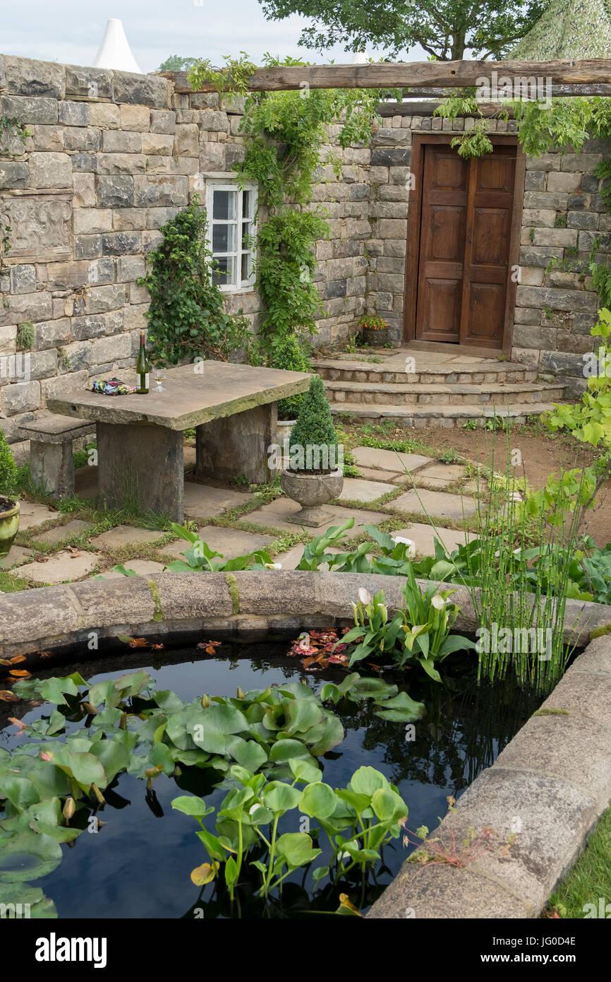 Hampton Court Palace, East Molesey, Regno Unito. 3 Luglio, 2017. Turismo de Galicia: Il Pazo il Giardino Segreto, Immagini Stock