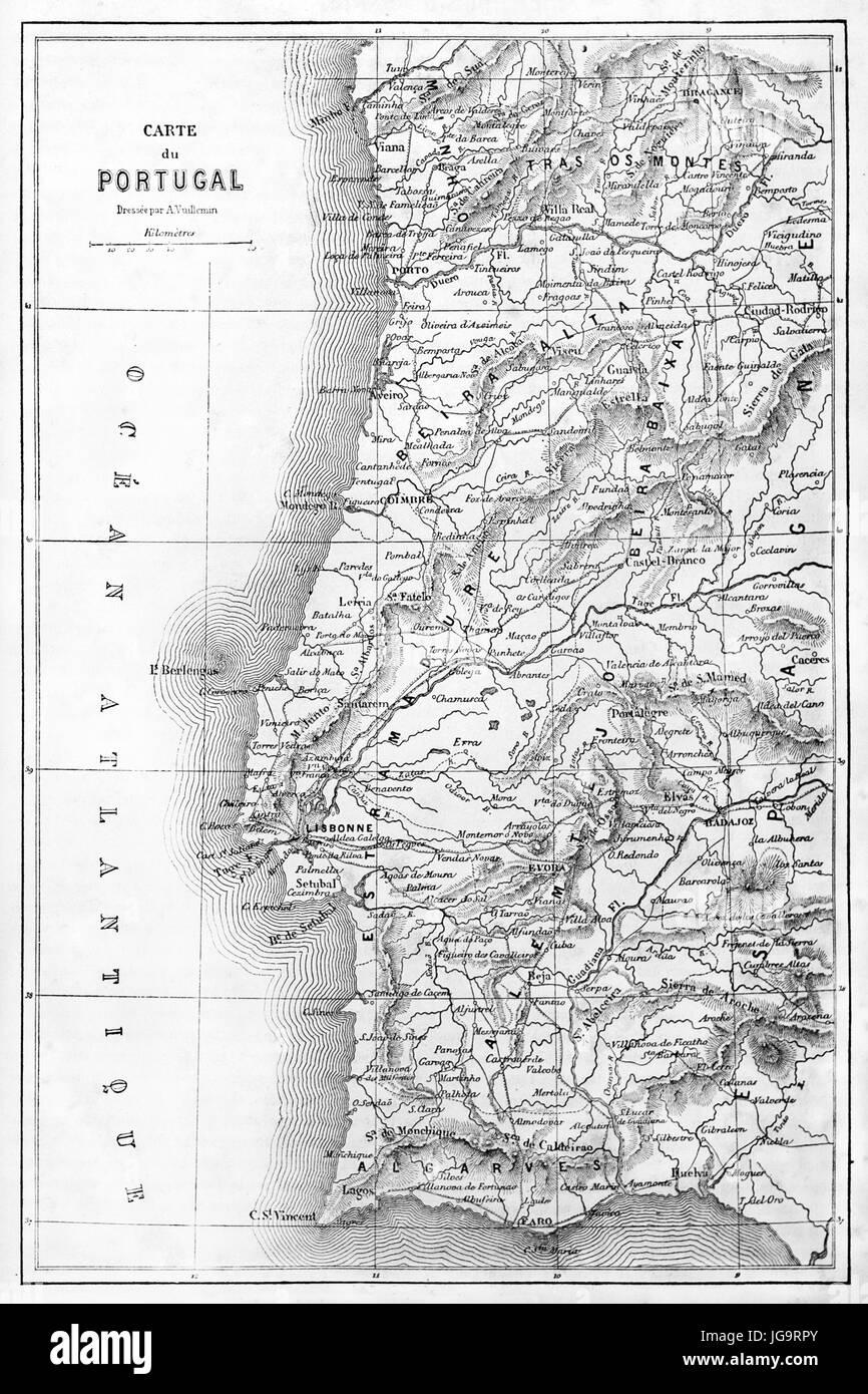 Cartina Del Portogallo Da Stampare.Mappa Del Portogallo Immagini E Fotos Stock Alamy