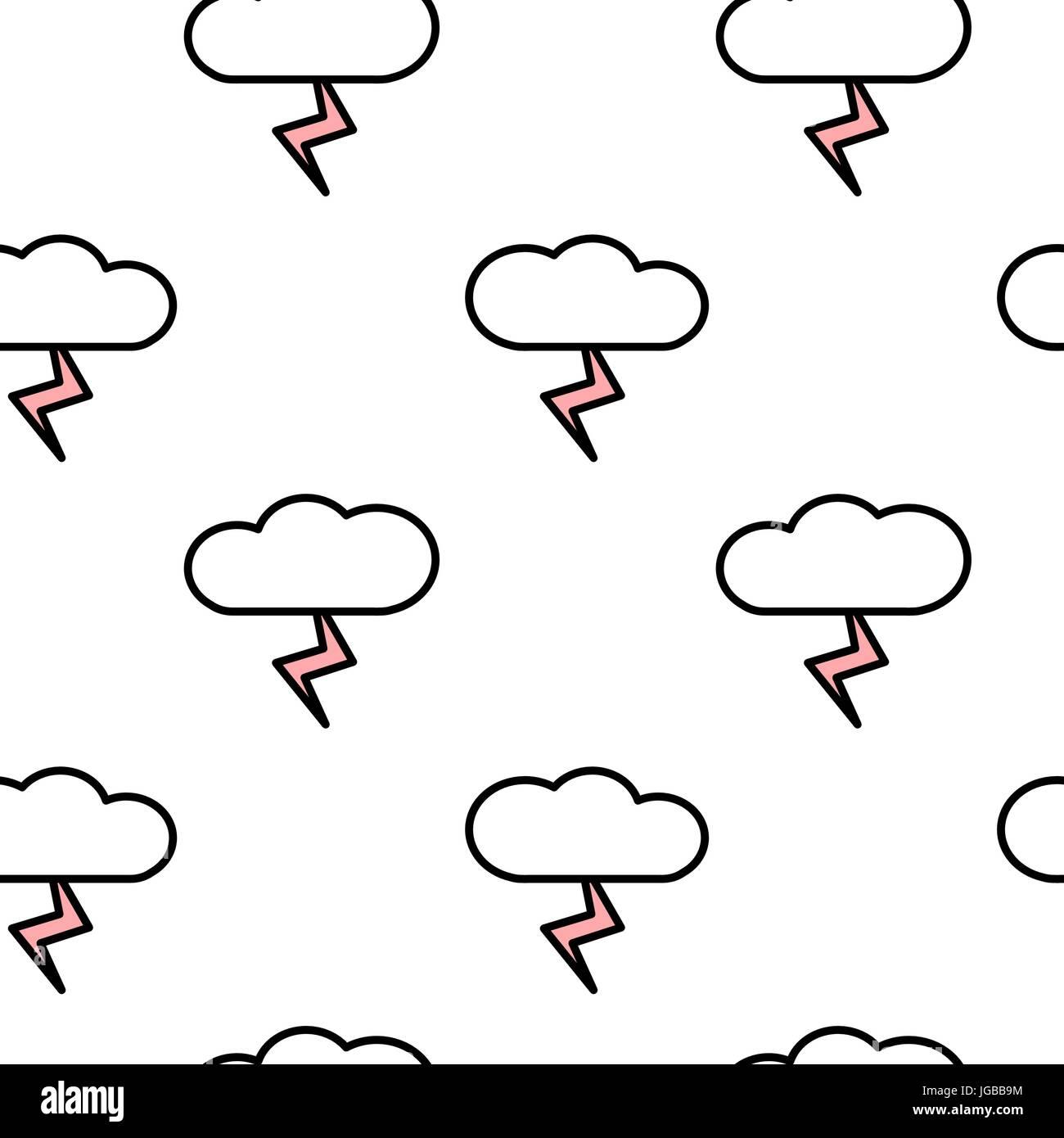 Abstract Di Nero Rosa Bianco Seamless Disegno Vettoriale