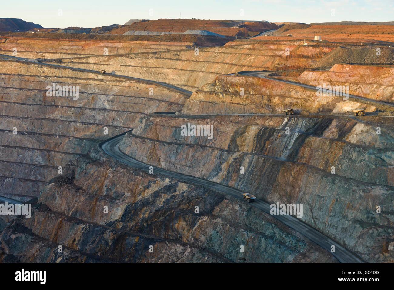 Miniera a cielo aperto, miniera d'oro, kalgoorlie, Australia occidentale Immagini Stock