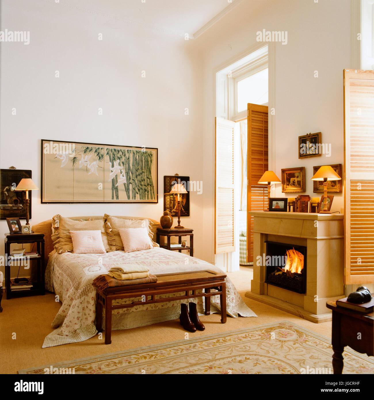 Lo stile orientale camera da letto Foto & Immagine Stock ...