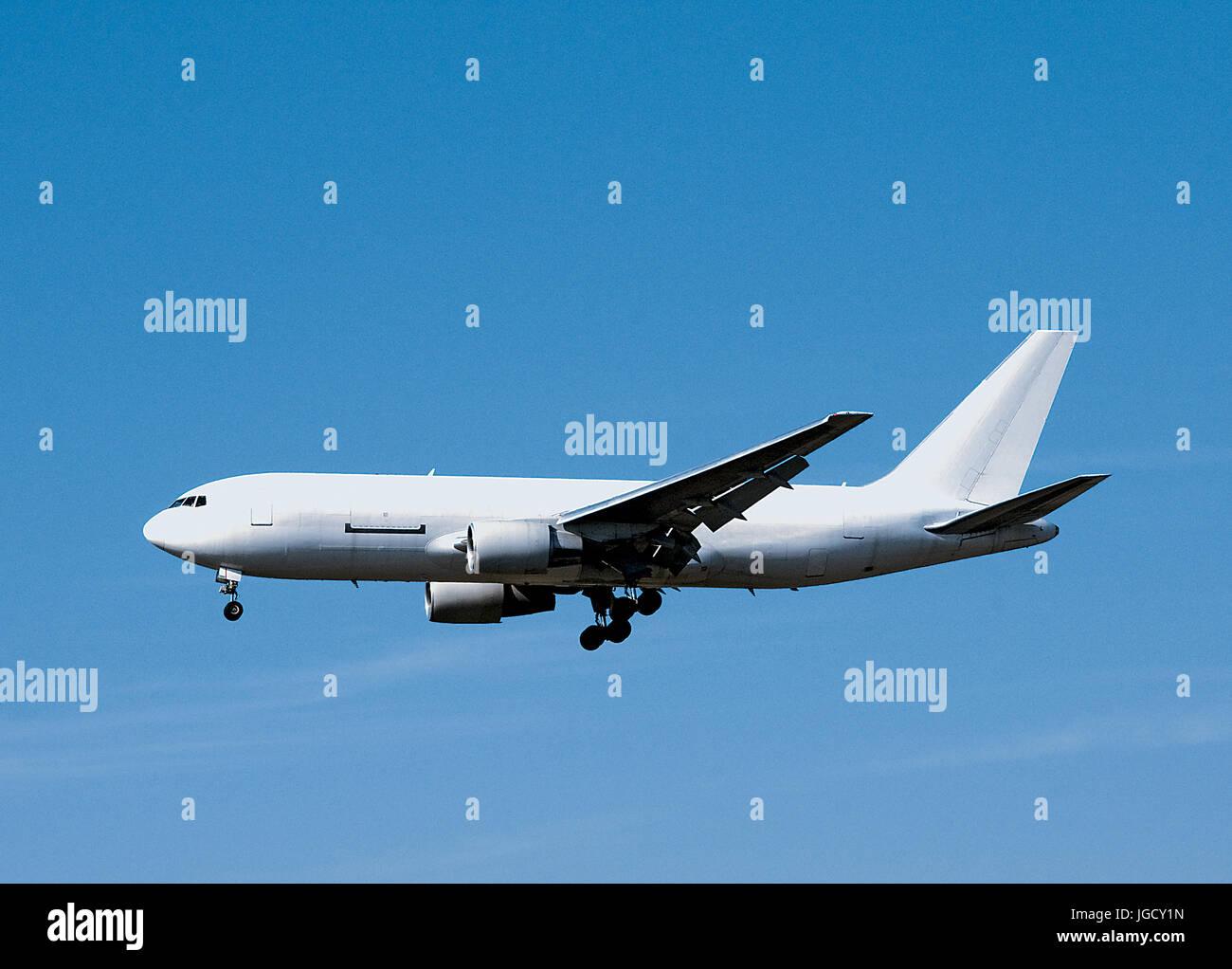 Vuoto aereo bianco Immagini Stock