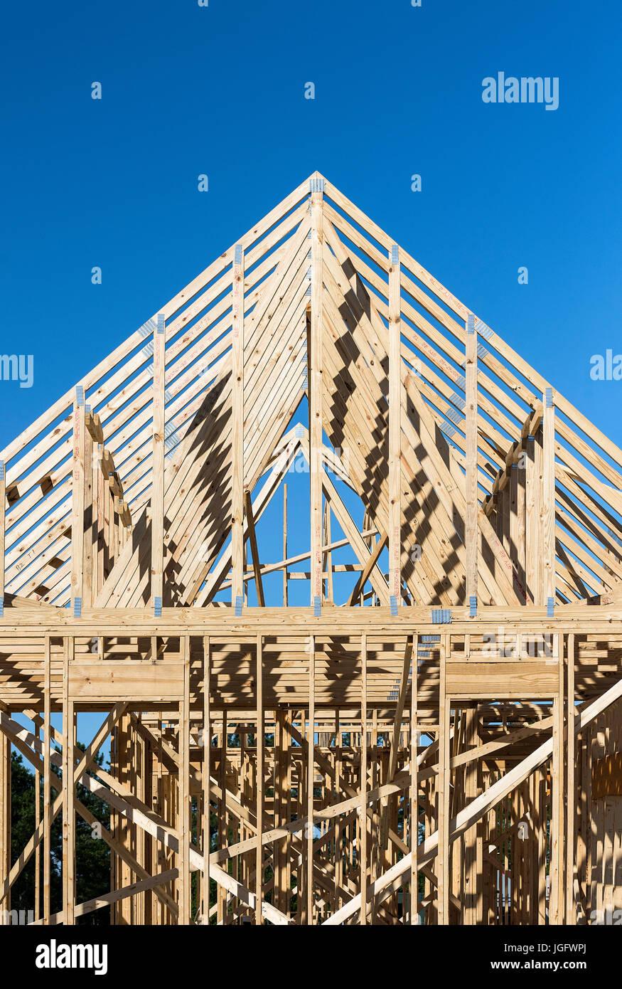Nuova costruzione casa telaio. Immagini Stock