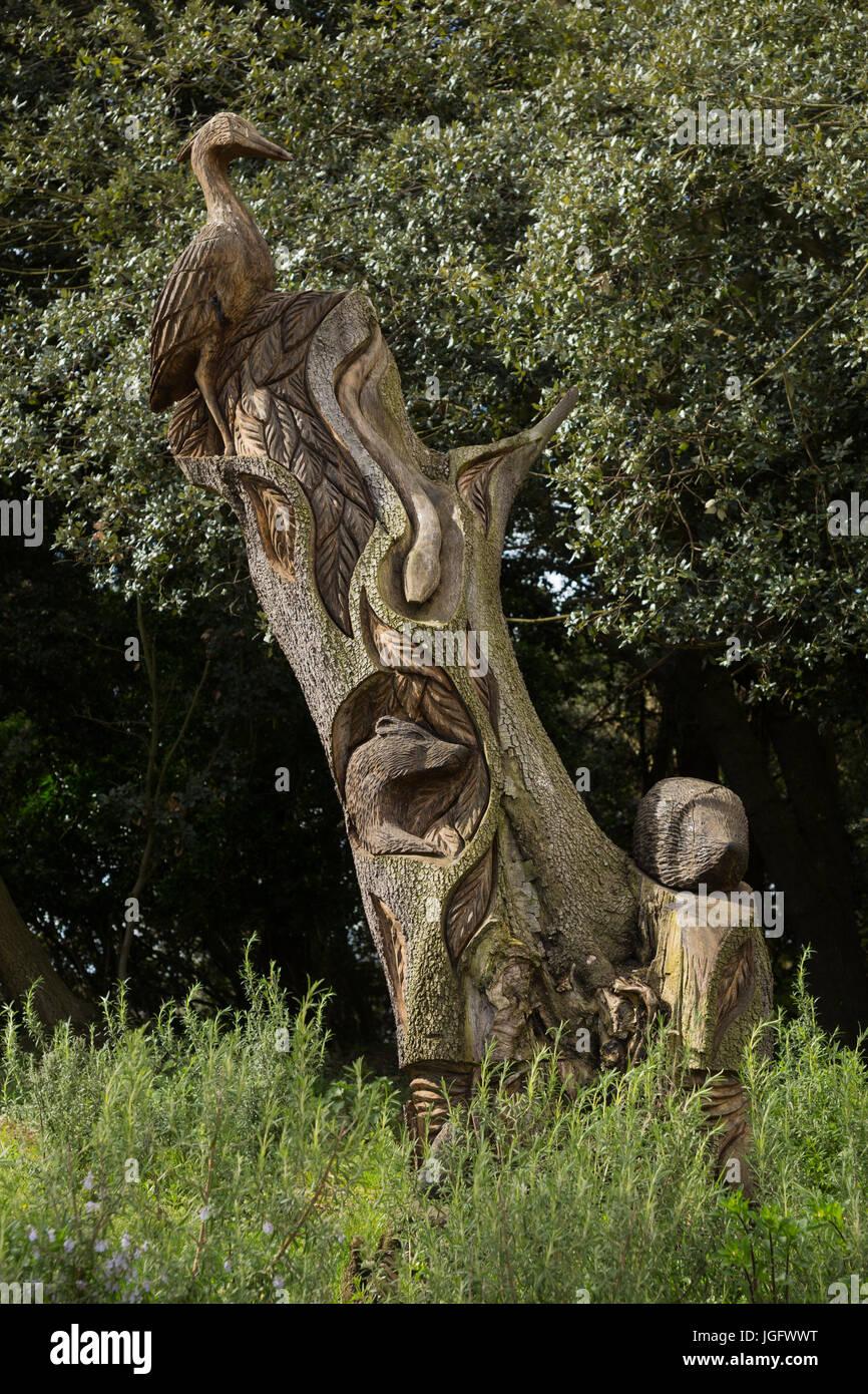 Carved wood tree stump immagini carved wood tree stump fotos stock alamy - Il giardino clevedon ...