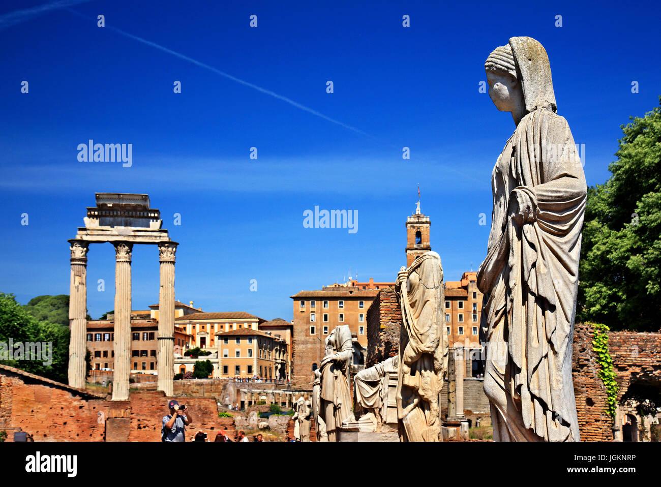 La Casa delle Vestali (Casa delle Vestali), Foro Romano, Roma, Italia. Immagini Stock