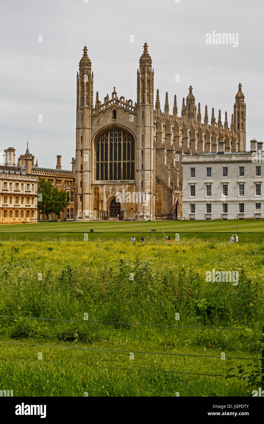 King's College di Cambridge, Cambridgeshire, England, Regno Unito Immagini Stock