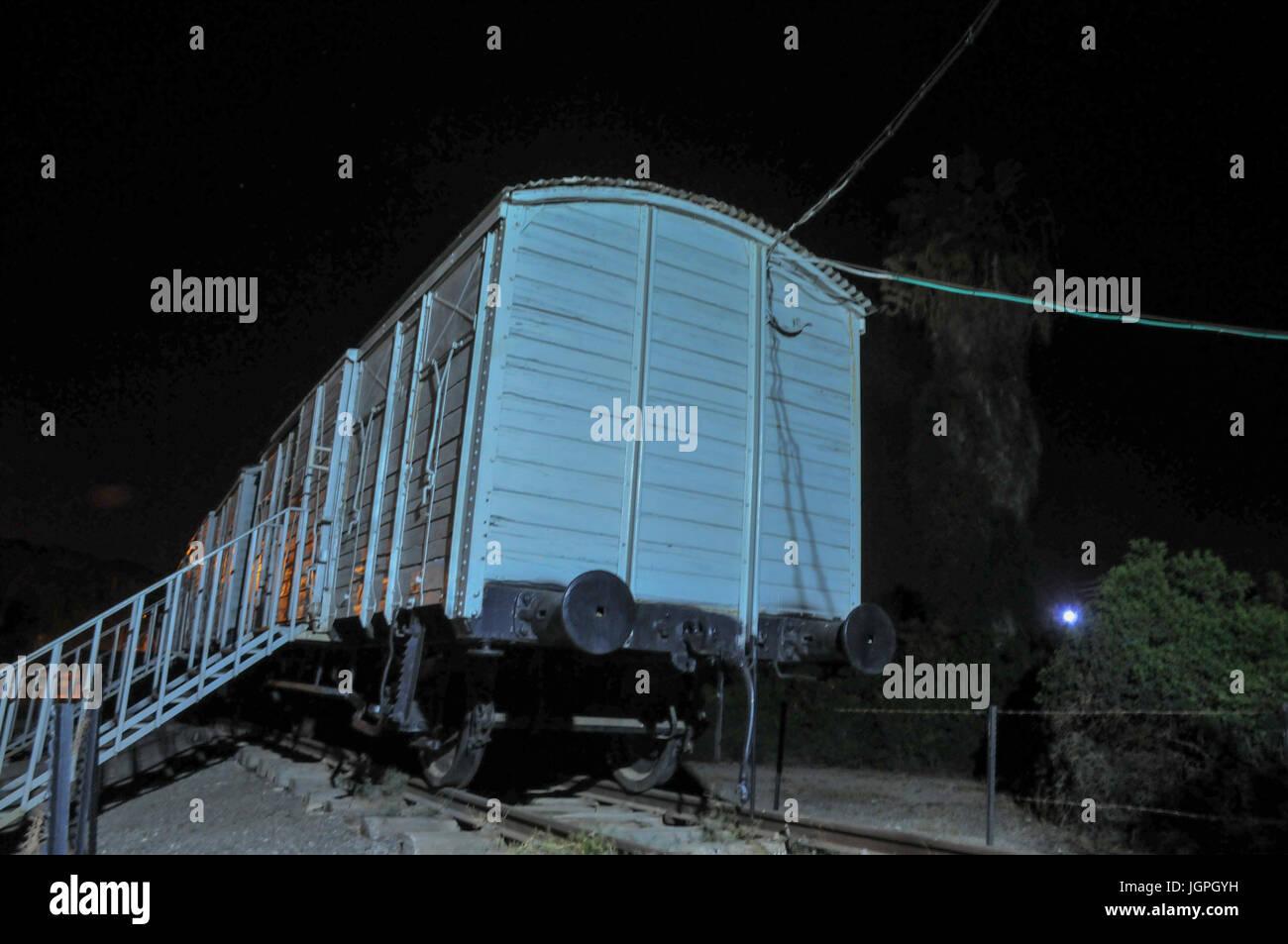 Il Atlit detenuto camp è stato un campo di detenzione stabilito dalle autorità del mandato britannico per la Palestina Foto Stock