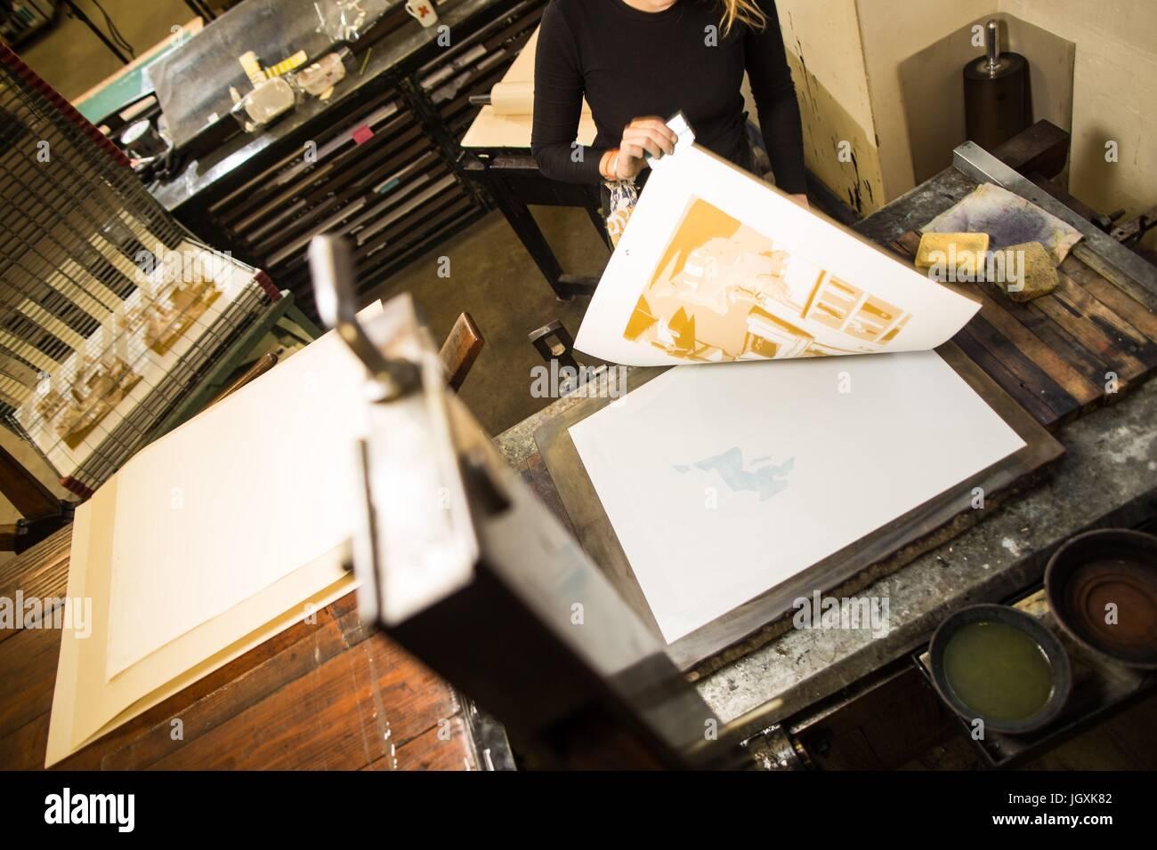 IMAGERIE D'EPINAL PRINTING HOUSE,(88) VOSGES,Francia orientale Immagini Stock