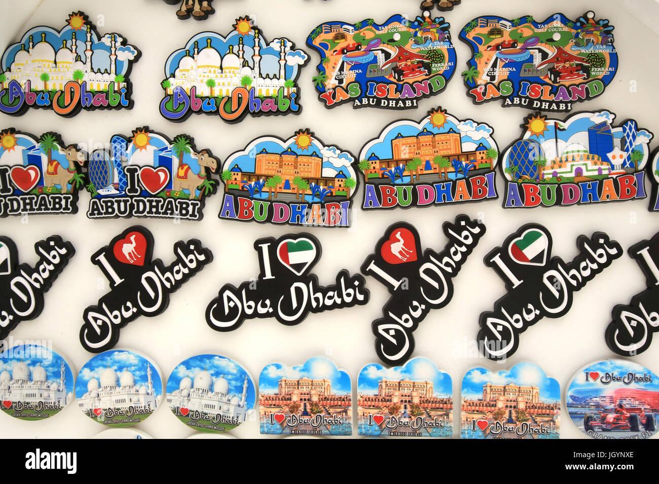 Magneti per il frigo. Emirato di Abu Dhabi. Immagini Stock